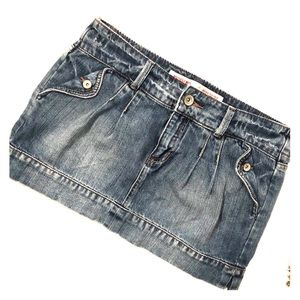 Mossimo Supply Co. Denim Jean Mini Skirt